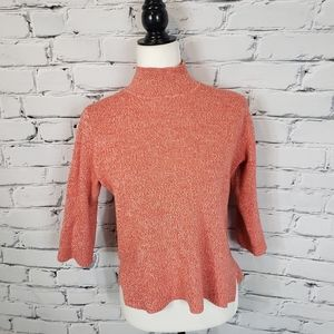 Ganni Orange Michi Rib Knit Sweater
